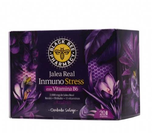 Black bee pharmacy jalea real inmuno stress (20 viales 10 ml)