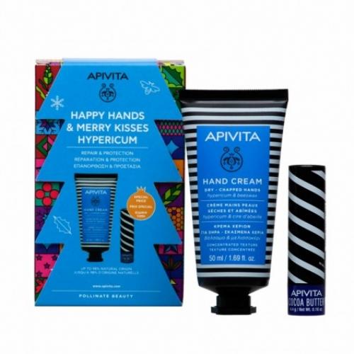 Apivita pack hand cream hyperico + labial