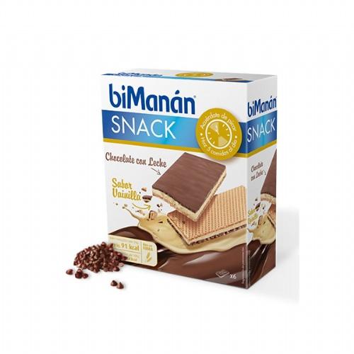 Bimanan snack chocolate c leche (sabor vainilla 20 g 6 biscuits)