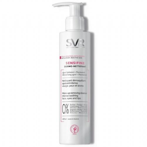 Svr sensifine dermonettolant limpiador - desmaquillante rostro ojos y labios (400 ml)