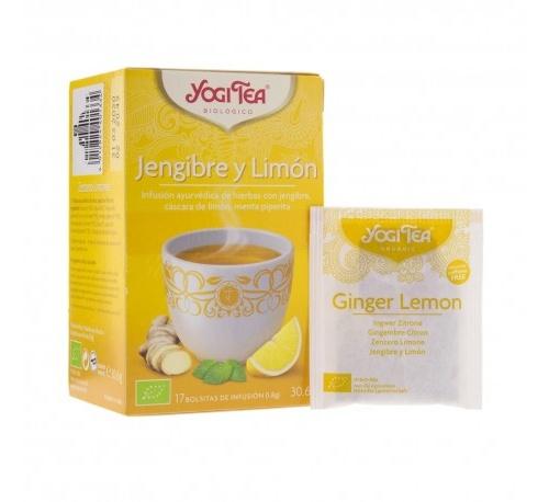 Yogi tea jengibre y limon x 17 bolsas