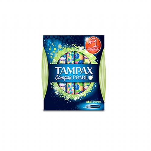 Tampax compak pearl tampon 100%algodon (super 16 u)