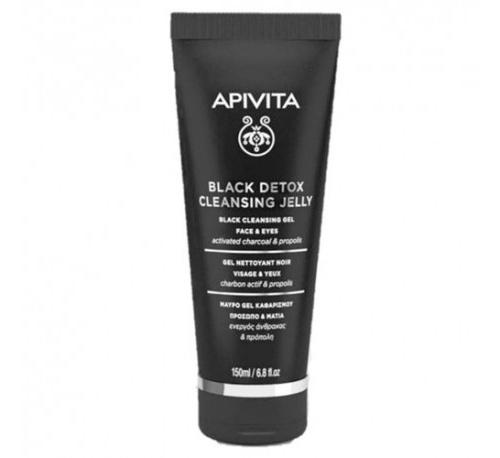 Apivita black detox cleanser gel 150ml