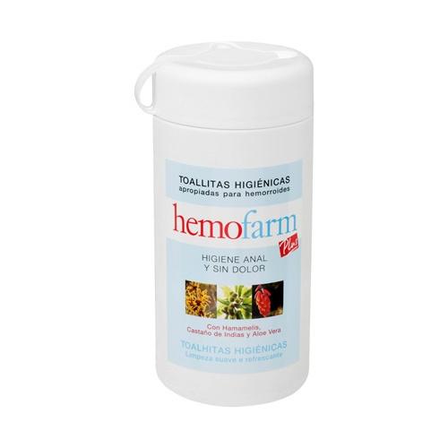 Hemofarm plus toallitas (bote 60 toallitas)