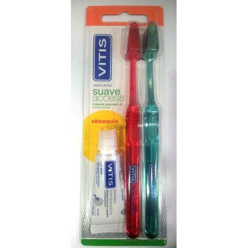 Cepillo dental adulto - vitis access (suave blister 2 u)