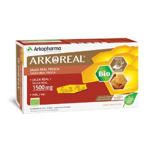 Arkoreal jalea real forte plus 1500 monodosis (1500 mg 20 ampollas)