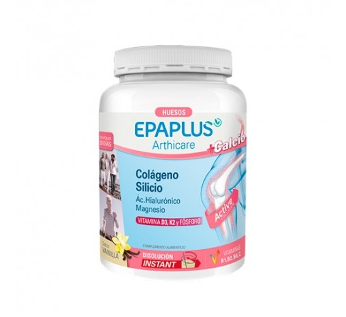 Epaplus colageno + silicio + hialuronico - + magnesio + calcio polvo (sabor vainilla 383.01 g)