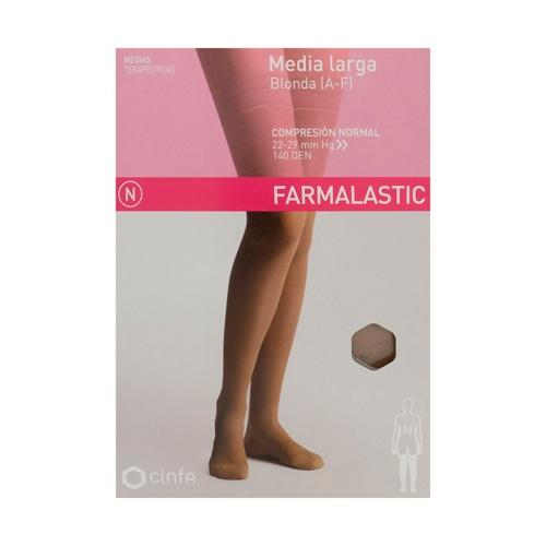 Media larga (a-f) comp normal - farmalastic blonda (camel t- med)