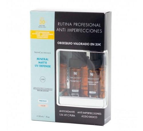 Skinceuticals mineral uv defense spf 30 matte (30 ml)+REGALO 2 MUESTRAS SKINCEUTICALS