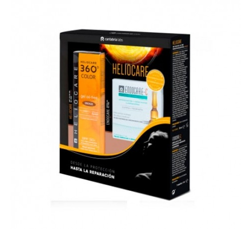 Heliocare pack gel oil-free bronze + endocare-c