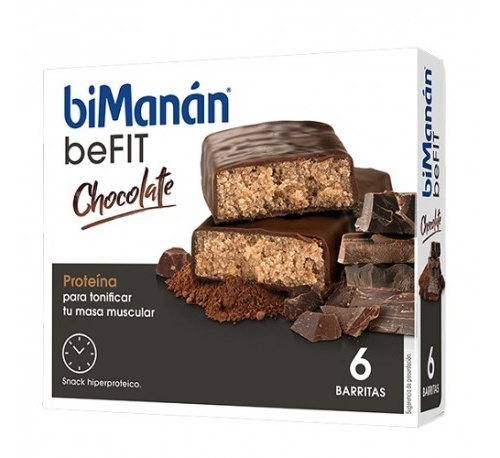 Bimanan befit proteina barritas (chocolate 6 barritas x 27 g)