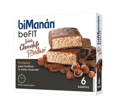 Bimanan metodo pro barrita chocolate praline - hiperproteica e hipocalorica (6 barritas)