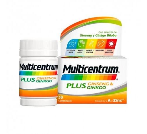 Multicentrum plus ginseng y ginkgo (30 comprimidos)