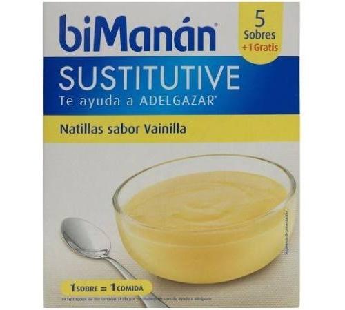 Bimanan beslim sustitutivo natilla (vainilla 6 sobres 55 g)
