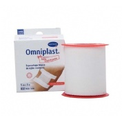 Esparadrapo hipoalergico - omniplast (tejido resistente blanco 5 m x 5 cm)