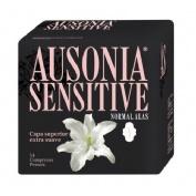 Compresas higienicas femeninas - ausonia sensitive (normal con alas 14 u)