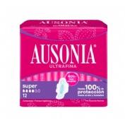 Compresas higienicas femeninas - ausonia airdry (super alas 12 u)