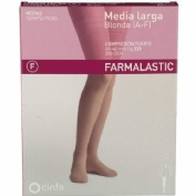 Media larga (a-f) comp normal - farmalastic blonda (beige t- egde)