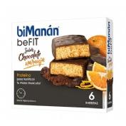Bimanan befit proteina barritas (chocolate naranja 6 barritas x 27 g)