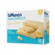 Bimanan bekomplett snack crackers queso (200 g 10 u)