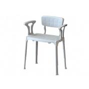 Ayudas dinamicas silla baño con brazos portofino ad839/b