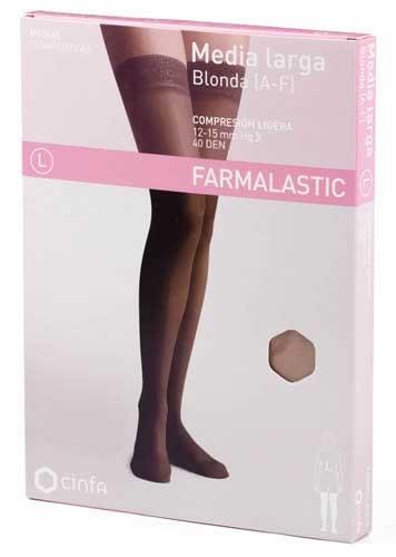 Media larga (a-f) comp ligera - farmalastic blonda (vison t- peq)